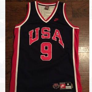 Nike Michael Jordan #9 olympic jersey